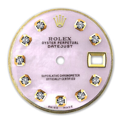 REFINED LADIES 2-TONE DATEJUST PINK MOP DIAMOND DIAL FOR ROLEX-26