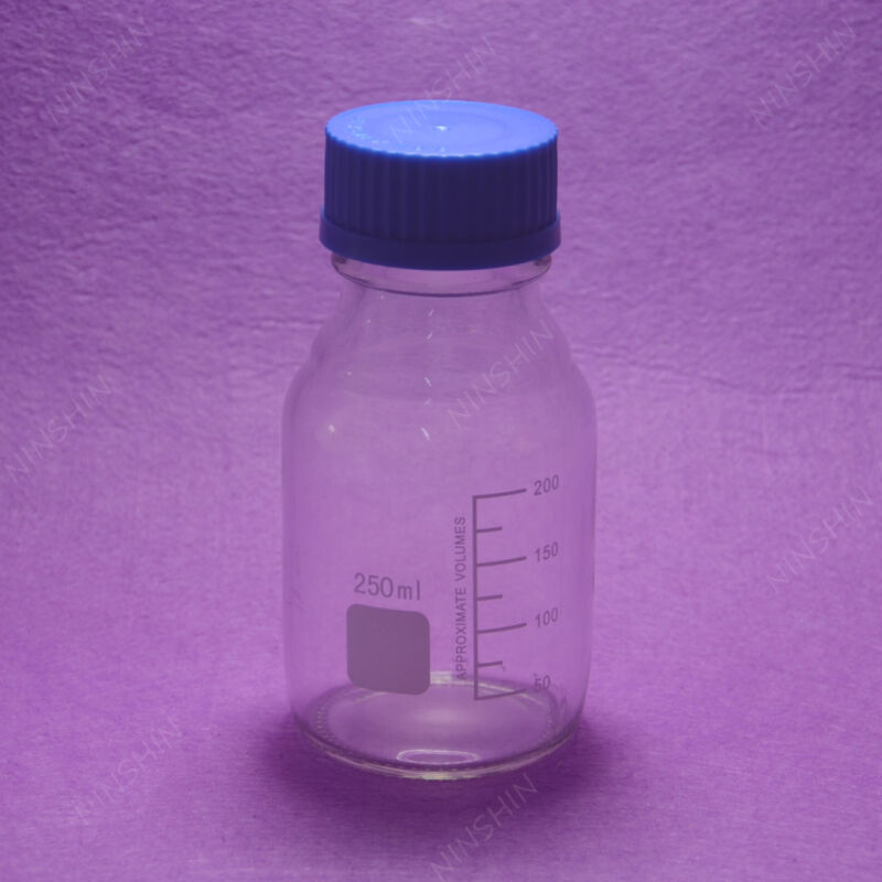 250mL Reagent bottle with cap autoclavable, heavy wall,lab glass bottle
