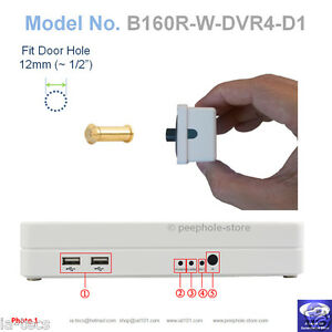 160-Brass-Door-PeepHole-Camera-Motion-Detect-DVR-Remote-Smartphone-Viewing