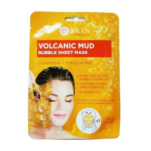 Skin Techniques - Cleansing and Exfoliating Volcanic Mud Bubble Sheet Mask