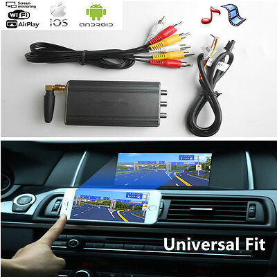 Car Miracast Airplay Android IOS TV WiFi Mirror Link Adapter Smartphone Screens