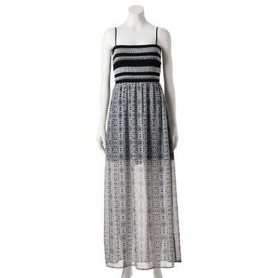 (Trixxi Smock Top Maxi Dress  Black Medium)