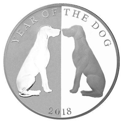 2018 Tokelau Year of the Dog Mirror Dog 1oz Silver Lunar PF $5 OGP SKU49559
