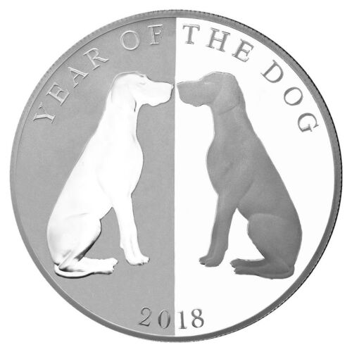 2018 Tokelau Year of the Dog Mirror Dog 1oz Silver Lunar PF $5 OGP SKU49559