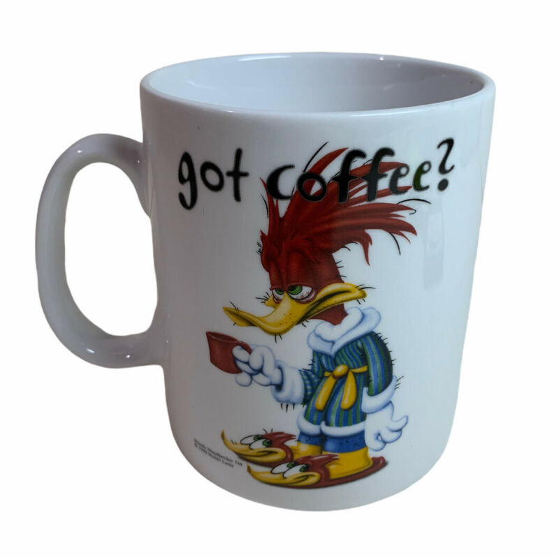 Universal Studios Woody Woodpecker Got Coffee? 32 Oz Mug Walter Lantz 1998