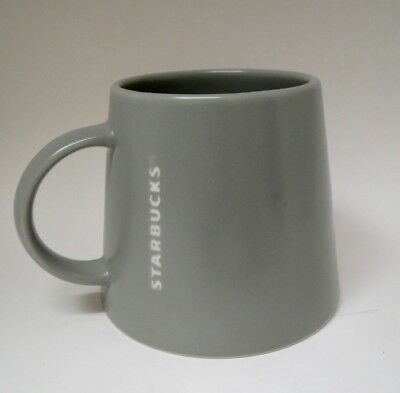 Medium Gray Slate - 2013 Starbucks Medium (Slate) Gray Tapered/ Wide Base Embossed Mug 16 oz.