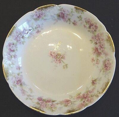 Charles Field Haviland Limoges France Pink Flowers Gold Daubs 5 1/8