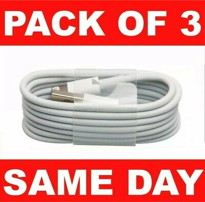 Pack 3 USB Lightning Charger & Data Sync Cable Lead For i-Phone 6 7 8 11 XR.