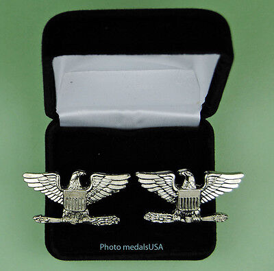 Colonel Cuff Links in Presentation - Gift Box Cufflinks - 1 1/2 inch wide