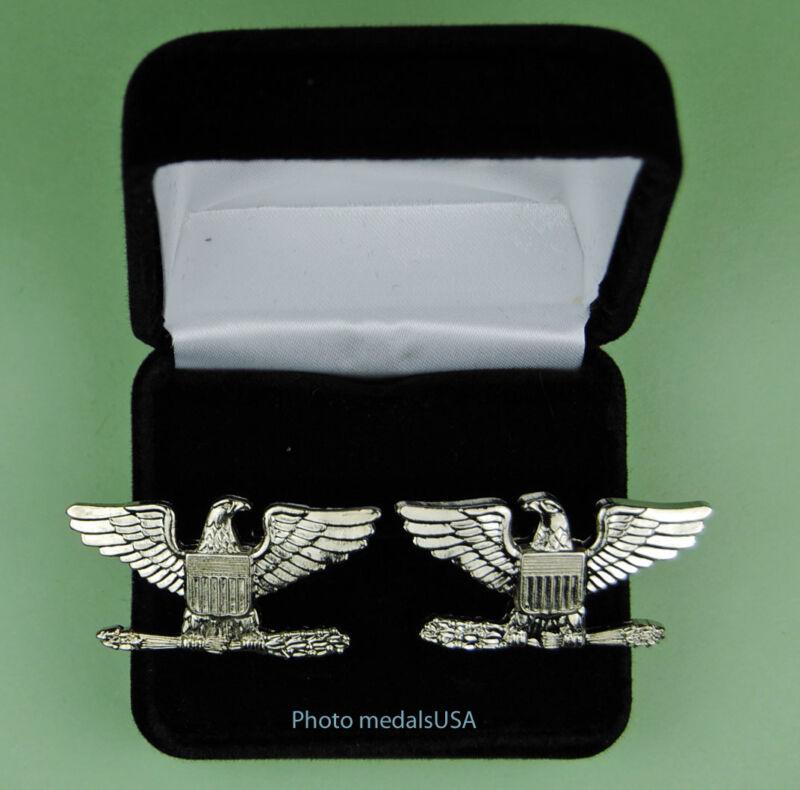 Colonel Cuff Links in Presentation - Gift Box Cufflinks - 1 1/2 inch wide