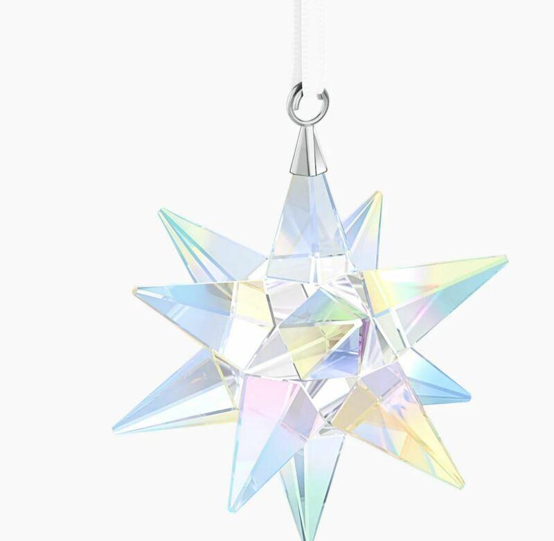 New in Box Swarovski 3D Star Ornament Star Ornament, Crystal AB #5283480