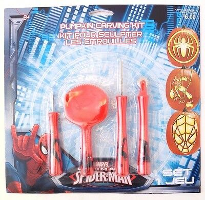 Marvel Ultimate Spider-man Halloween Pumpkin Carving Kit 11 Piece Set NEW