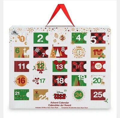 Disney NIB Micro Tsum Plush Advent Calendar Christmas Holiday Set 2017 NEW