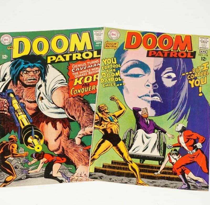 Doom Patrol # 118 & # 114 Beast Boy Negative Man Elasti-Girl Robotman Silverage