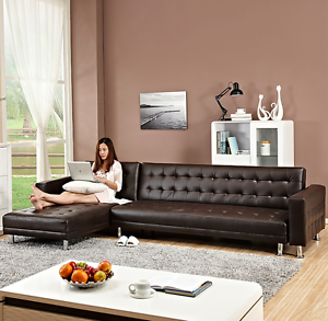 Japanese design 5 seater L shape sofabed on sale now, top pu leat Burwood Burwood Area Preview