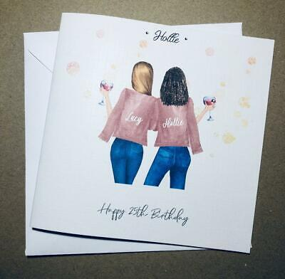Handmade Birthday Card for Best Friend/ Sister/ cousin etc 25th 30th 35th 40th