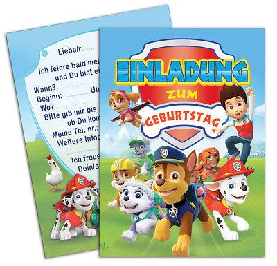 Einladungskarten zum Kindergeburtstag - inklusive Umschlägen (Einladungen Geburtstag)