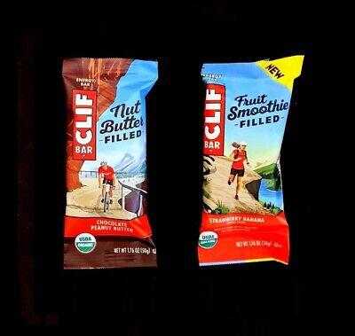 80 CLIF ENERGY BAR 40 STRAWBERRY BANANA & 40  CHOCOLATE PEANUT BUTTER  FRUIT NUT ()