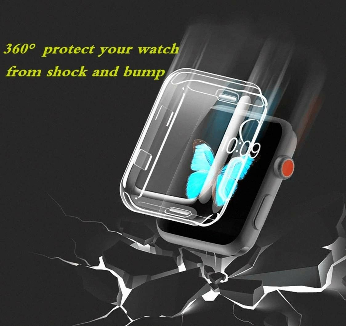38/42mm USA Apple Watch iWatch Clear Screen Protector Cover TPU Case Series 3 Cases, Covers & Skins