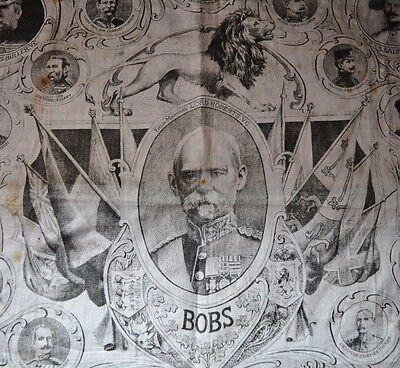 Boer War Lord Roberts & Major Military Leaders Handkerchief Original
