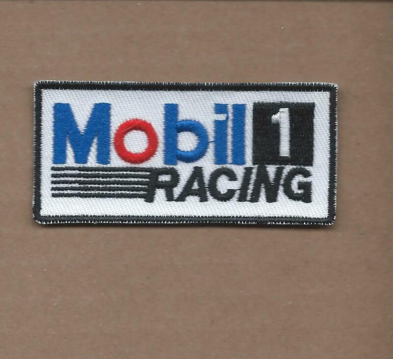 "NEW 1 1/2 X 3"" MOBIL 1 RACING IRON ON PATCH FREE SHIPPING P1"