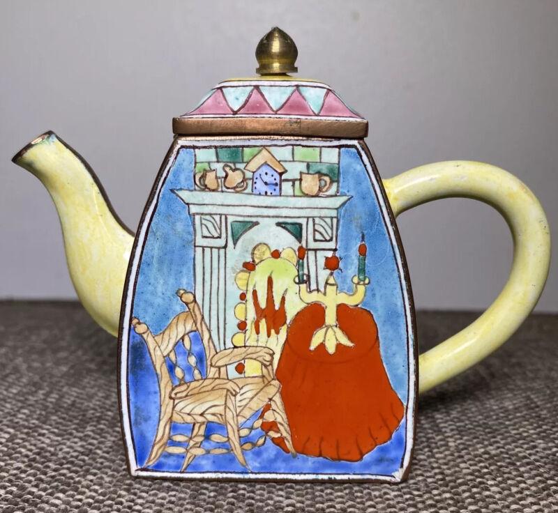 KELVIN CHEN Teapot VAN GOGH Mini Copper Enamel Handpainted
