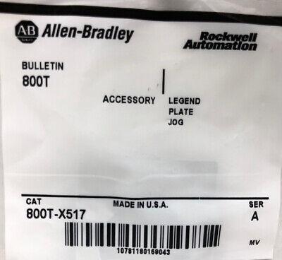 Allen Bradley 800t-x517 Legend Plate Lot Of 5