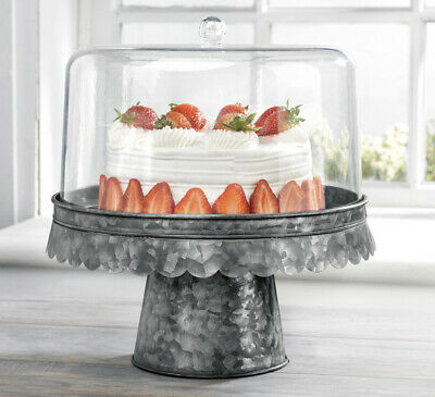 Cake stand dessert stand ACRYLIC/GALV CAKE STAND