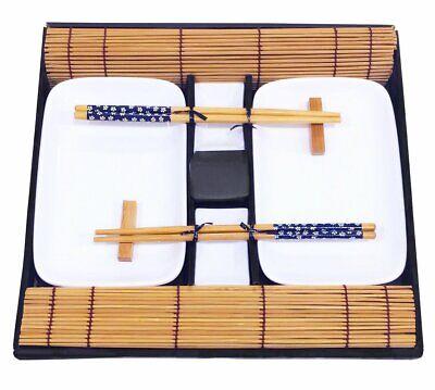 Exzact Ex-SG Stile Orientale 10 Pezzi Set di Sushi - 2 x Piatti di Sushi (r1o)