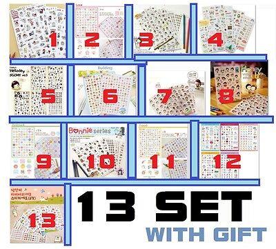 Girl Diary Calendar Filofax Schedule Notebook Mixed Lot 13 Set Diy Deco Sticker