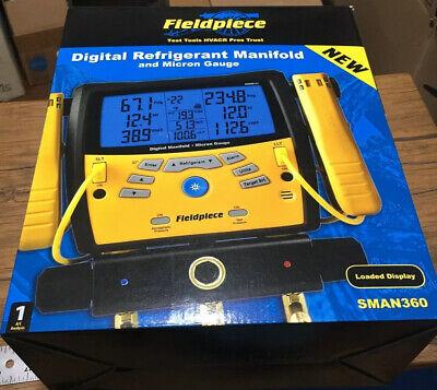 Fieldpiece Sman360 3-port Digital Manifold Micron Gauge New In Box