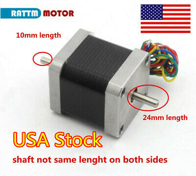 Usanema17 48mm Stepper Motor 78oz-in 1.8a Dual Shaft For 3d Printercnc Router