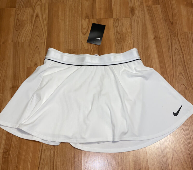 New Nike Court Womens Tennis Skirt Size Small White MSRP $55