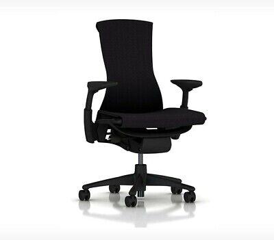 New Embody Office Desk Chair -by Herman Miller - Black Rhythm Fabric