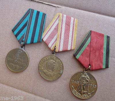 original   Russland Sowjetunion UDSSR  3 x Medaille