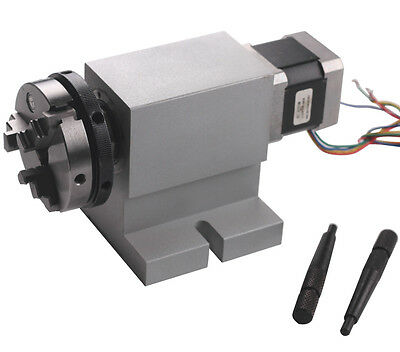 Cnc Rotational Rotary Axis A-axis 4th-axis 63mm Chuck Harmonic Reducing Gear Box