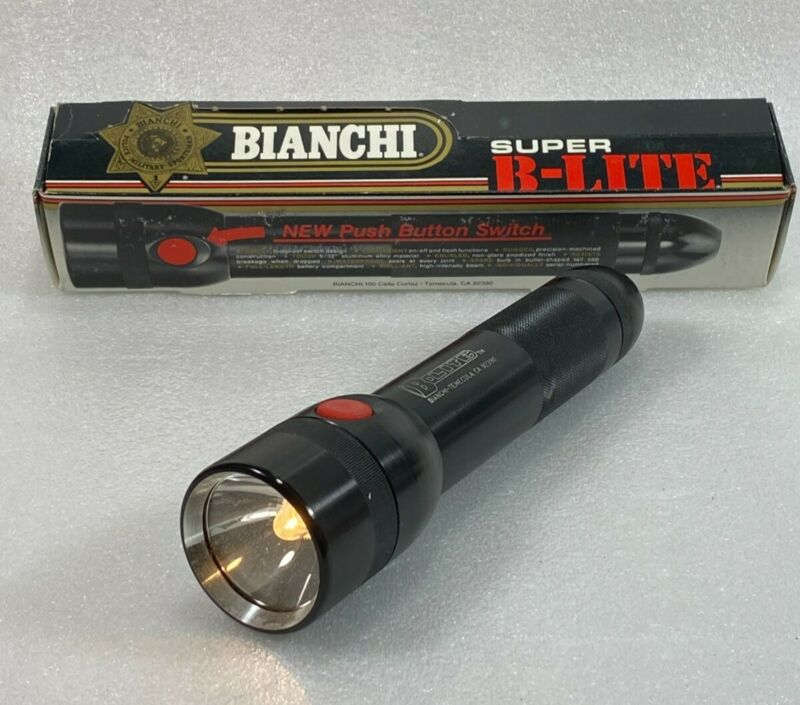 Vintage Bianchi Super B Lite Flashlight, 2 D Cell
