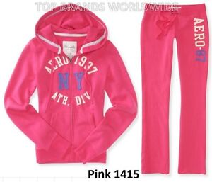 AEROPOSTALE WOMENS FULL ZIP HOODIE AND SWEAT PANTS SET MSRP $89 NWT AERO LOGO