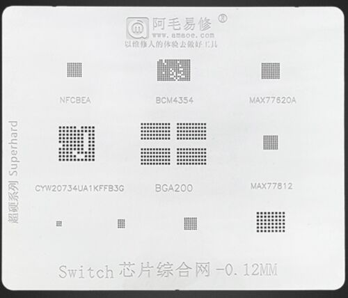 Stencil For Switch IC K4UBE3D4AA-MGCL LPDDR4X NFCBEA BCM4354 MAX77620A MAX77812