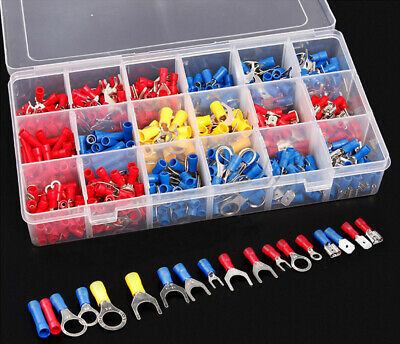 Electricity Kit - 520 PCS Insulated Electrical Wire Splice Terminal Spade/Crimp/Ring Connector Kit