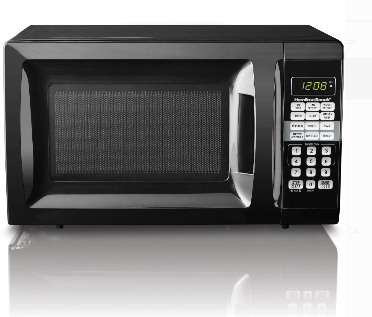 Small Microwave Oven Kitchen Countertop .7 Cu Ft Hamilton Be