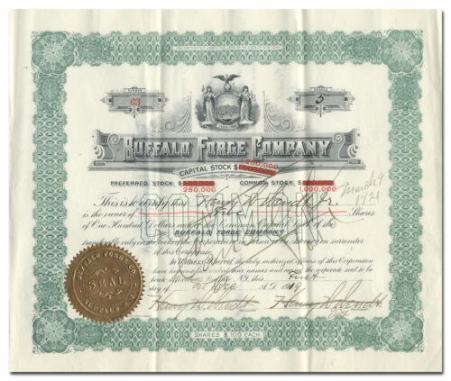 Buffalo Forge Company Stock Certificate