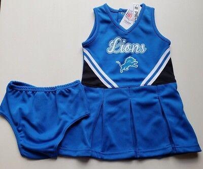 Baby Cheerleader Costume (NWT Detroit Lions Girls Cheerleader Costume 2 pc Set Infant 12)