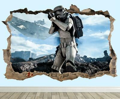 Star Wars Battlefront Trooper Wall Vinyl Poster Sticker - Force Awakens Mural