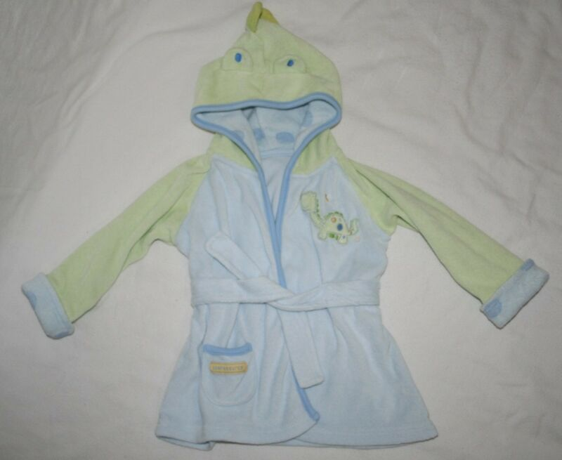 Just One Year Infant Size 0-9 Months Hooded Dinosaur Bathrobe