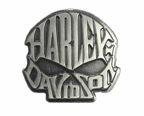 Harley-Davidson® Willie G. Skull Text Vest Pin Antique Silver Finish