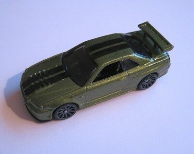 Hot Wheels Nissan Skyline GT-R (R34) Beautiful Green Sports Coupe Mint and Loose