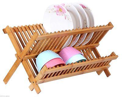 Bamboo Folding Dish Rack NEW ()