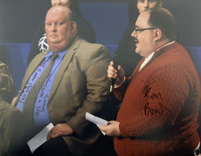 KEN BONE HAND SIGNED 8x10 PHOTO HILLARY CLINTON AUTOGRAPH POLITICS
