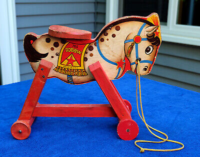 Fisher Price Dobbin #765 Antique Horse Riding/Pull Toy 1940's